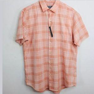 Van Heusen Button Down Collard Shirt Muted Clay M